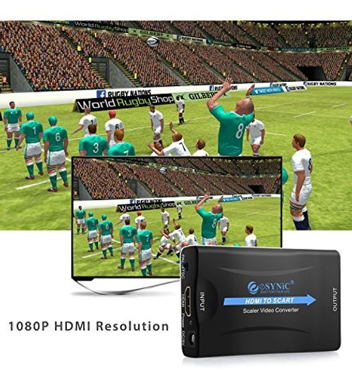 photo Wallpaper of eSynic-HDMI Zu SCART Konverter HDMI Eingang SCART Ausgang Composite Video HD Stereo Audio-HDMI zu SCART