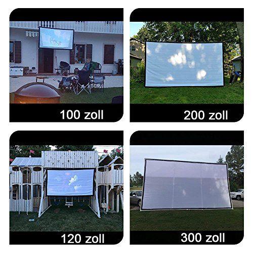 photo Wallpaper of NIERBO-Beamer Leinwand Für Beamer 150 Zoll, NIERBO Projektionsleinwand Leinwand 16 9 | 337x194cm-Weiß