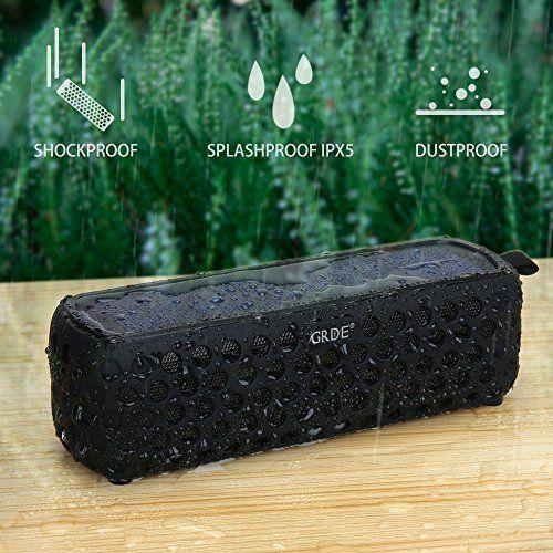 photo Wallpaper of GRDE-GRDE Bluetooth 4.0 Lautsprecher Solar Außen Lautsprecher Bluetooth Stero Speaker Cool SoundBox Wirelss-Schwarz