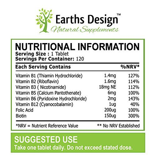 photo Wallpaper of Earths Design-Vitaminas Complejo B   Vit B1 B2 B3 B5-