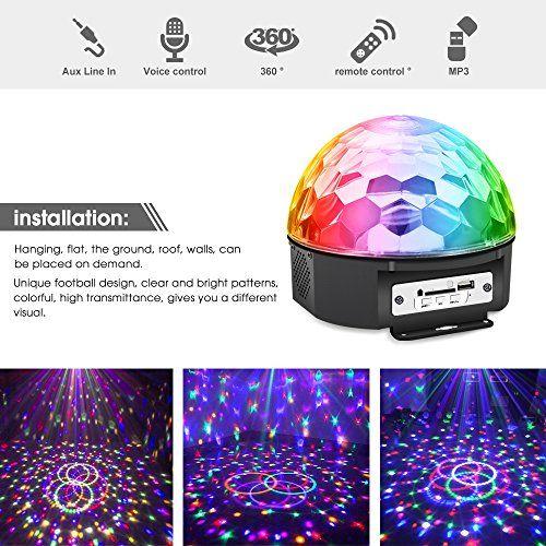 photo Wallpaper of Jomst-Discokugel LED Lichteffekte Party Lampe Beleuchtung Mit Fernbedienung,Jomst RGB Dj Licht, Musik Und Stimme-