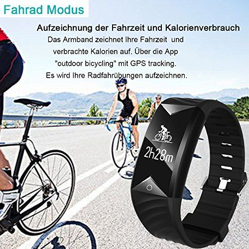 photo Wallpaper of YAMAY-Fitness Armband,Yamay Fitness Tracker Mit Herzfrequenz Wasserdicht IP67 Smart Watch-Schwarz