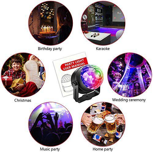 photo Wallpaper of Alviller-(3.Generation) Disco Lichteffekte, Christmas Party Licht Beleuchtung Discolicht Partylicht Led Disco-