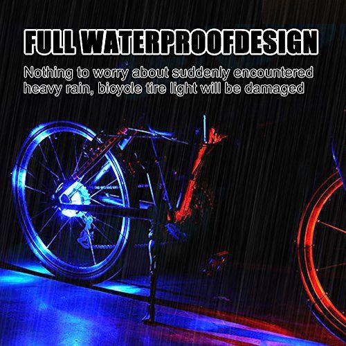 photo Wallpaper of Fozela-Fahrrad Rad Lichter, Fozela Wasserdichte Fahrradlichter Speichenlicht LED Fahrrad Lichter Licht Rad Speichenleuchten Für-Blue