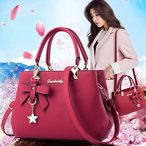 photo Wallpaper of Magic Zone-Magic Zone Damen Handtaschen Fashion Handtaschen Für Frauen PU Leder Schulter Taschen Messenger Tote-Red