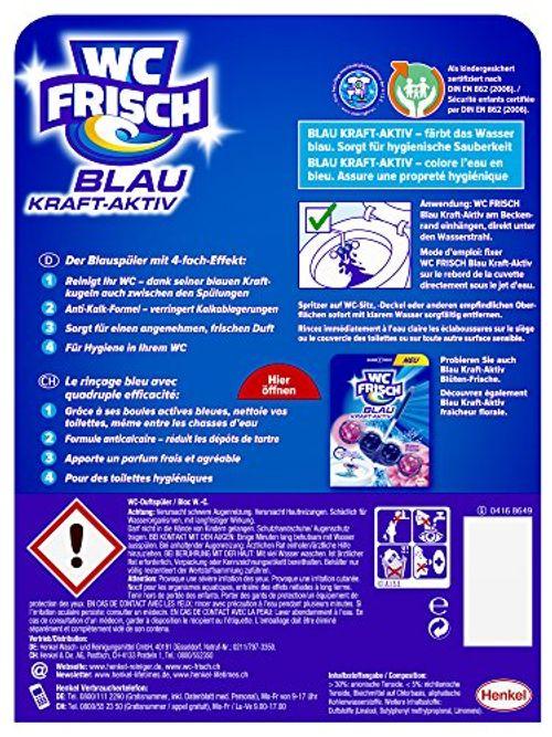 photo Wallpaper of WC-Frisch-WC Frisch Kraft Aktiv Blauspüler Chlor Paket, 50 G-