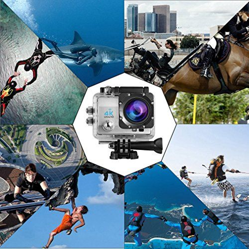photo Wallpaper of LESHP-LESHP 4K Action Kamera 1080P 12MP Full HD WiFi Sport-Action Kamera