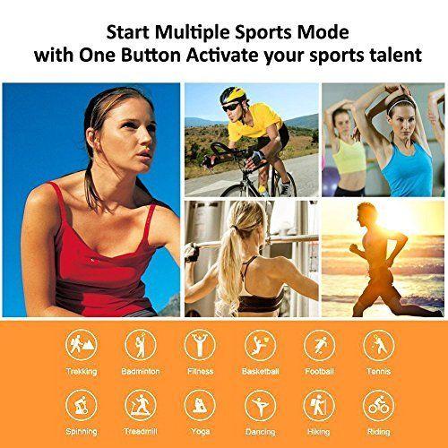 photo Wallpaper of Lintelek-Fitness Armband Lintelek Herzfrequenzmesser Fitness Tracker Plus HR Sport Uhr-dunkel Gr¨¹n