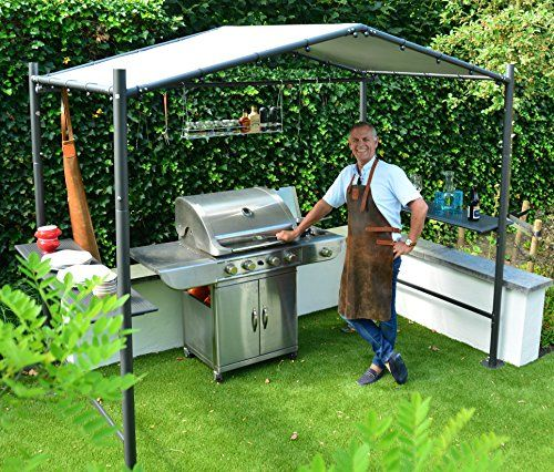 photo Wallpaper of SORARA-BBQ Grill Pavillon | Dunkelgrau | 265 X 150 Cm | SORARA | PVC-Grau