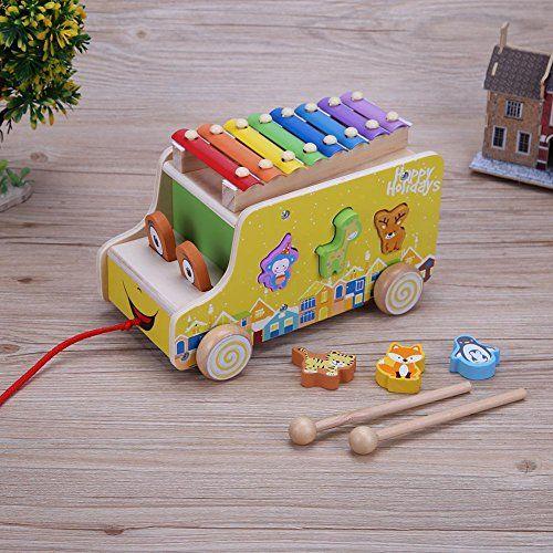 photo Wallpaper of Domybest-Domybest Baby Tiere Anhänger Holz Musikinstrument Kinder Frühen Lernspielzeug-
