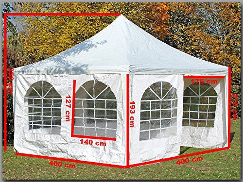 photo Wallpaper of stabilepartyzelte-Pavillon 4x4m Arabica PVC Weiß Partyzelt 4x4 Verkaufszelt Wasserdicht-weiß