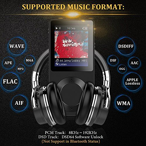 photo Wallpaper of AGPTEK-Bluetooth MP3 Player Verlustfreie Sound Qualität Tragbare Metall Musik Player Unterstützt 256GB Micro SD-Schwaz