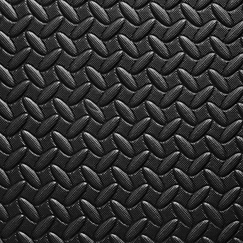 photo Wallpaper of COSTWAY-12 Stück Schutzmatten Set Bodenschutzmatte Puzzlematte Unterlegmatte Fitnessmatte Gymnastikmatte Matte Für-Schwarz