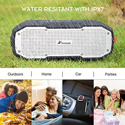 photo Wallpaper of Honstek-Honstek K9 Portable Bluetooth Lautsprecher Kabelloser Bluetooth Box Mit 20W Lautsprecher,-Schwarz