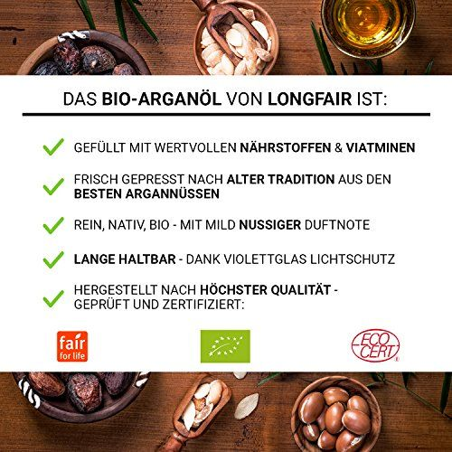 photo Wallpaper of Longfair-Bio Arganöl | Reines & Natürliches Öl Aus Marokko | Kalt Gepresst-silber