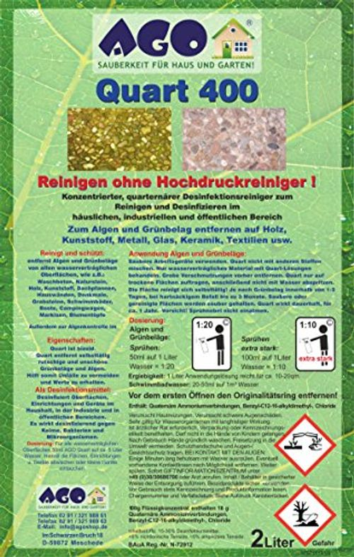 photo Wallpaper of AGO ® Sauberkeit für Haus und Garten-AGO ® Quart Komplett Set 2l Quart 400 Hochkonzentrat Grünbelagentferner +-