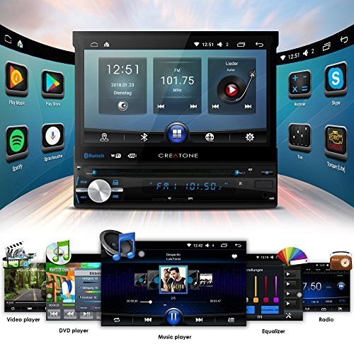 photo Wallpaper of CREATONE-Autoradio Android CREATONE AMG 1201 | 1DIN Naviceiver Mit Ausfahrbarem Bildschirm | GPS-