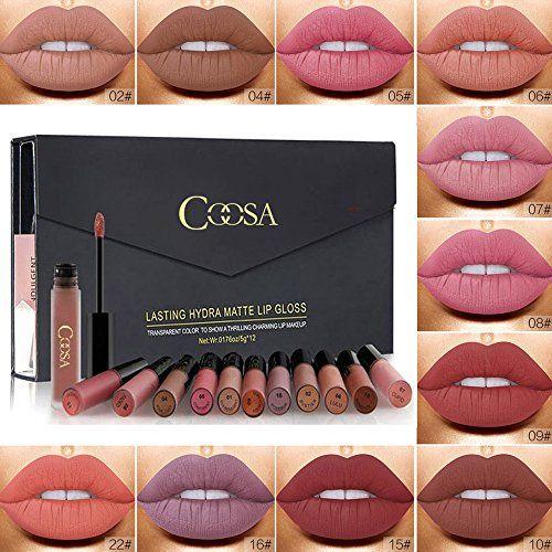 photo Wallpaper of Rechoo-Rechoo 12 Stück Wasserdicht Langlebig Matte Liquid Lipstick Schönheit Lippe Gloss, Sexy Wasserdichte Long-12 pcs
