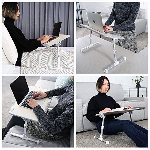 photo Wallpaper of Gladle-Gladle Höhenverstellbarer Laptoptisch Fürs Bett Betttisch Klappbarer  Notebooktisch Für Sofa Lapdesk-Weiß