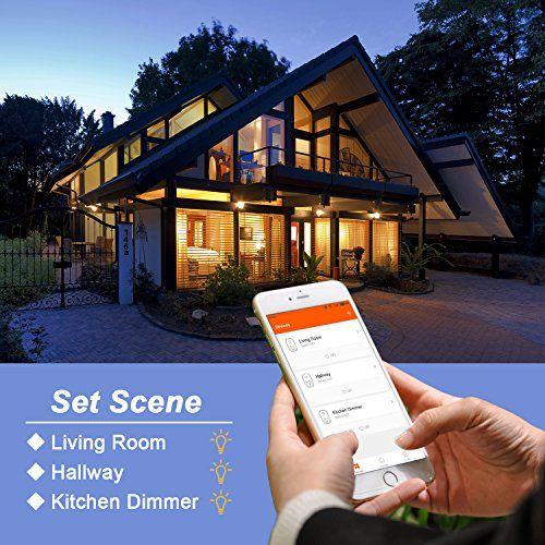 photo Wallpaper of AUSEIN-WiFi Bulb Intelligente Bunte LED Lampe Dimmbare 650 Lumen Kugelförmige-Warm Weiß