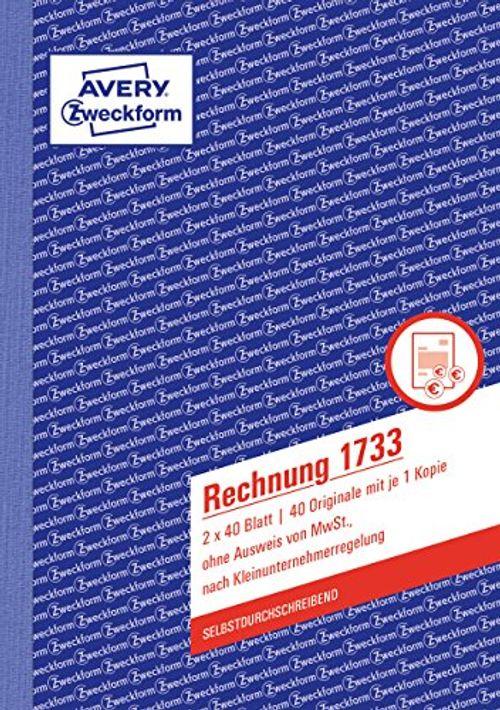 photo Wallpaper of AVERY Zweckform-AVERY Zweckform 1733 Rechnung Kleinunternehmer (A5, Selbstdurchschreibend, 2x40 Blatt) Weiß/gelb-Weiß/Gelb