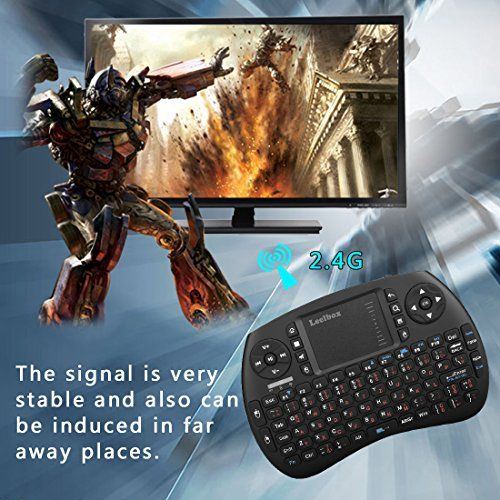 photo Wallpaper of Leelbox-(Sonderangebotswoche)Mini Drahtlose Tastatur Mit Touchpad Maus Leelbox 2,4Ghz Mini Wireless Keyboard Mini Usb Tastatur-schwarz