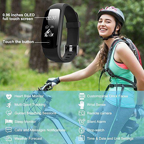 photo Wallpaper of LASUAVY-Fitness Tracker Mit Herzfrequenz LASUAVY Fitness Armbanduhr Wasserdicht/ Schlafanalyse / Kalorienzähler/ SMS /-Schwarz-107plus