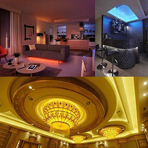 photo Wallpaper of VINGO-VINGO® 2m LED Streifen RGB LED Strip 120LEDs Streifen Wohnzimmer Flur Bunt-2m