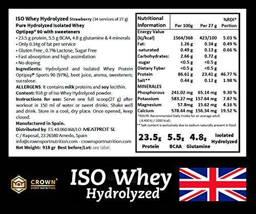 photo Wallpaper of Crown Sport Nutrition-Crown Sport Nutrition ISO Whey Hydrolyzed Proteína De Suero De Leche,-
