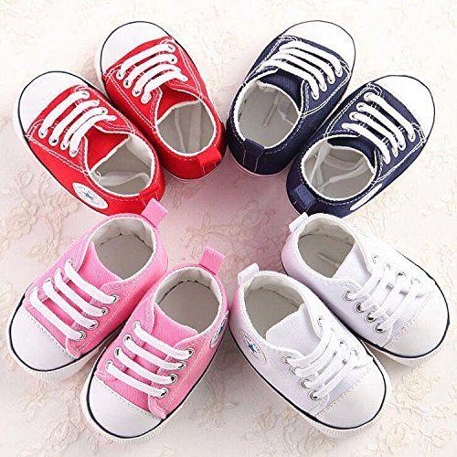photo Wallpaper of QZBAOSHU-QZBAOSHU Säuglingskleinkind Erste Wanderer Schuhe Weiche Untere Segeltuch Schuhe Für-Weiß