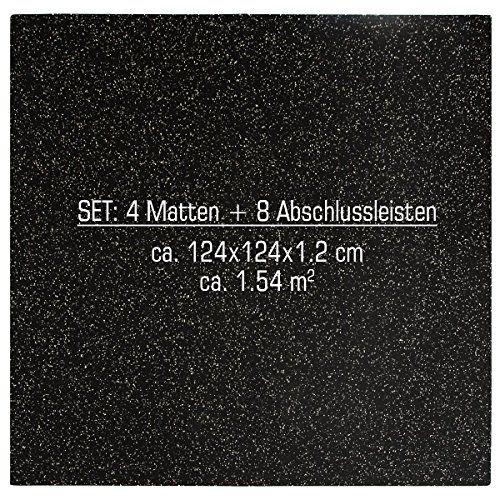 photo Wallpaper of Eyepower-Eyepower Robuste Gummimatte 1,54qm Bodenschutzmatte Inkl. Abschlussleisten Erweiterbares Stecksystem Bodenmatte-