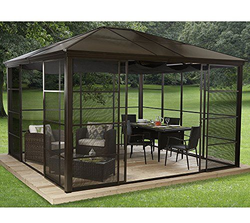 photo Wallpaper of Sojag-Aluminium Pavillon Überdachung Gazebo Castel 12x14 // 427x362 Cm (BxH) // Sommer Pavillon Und-