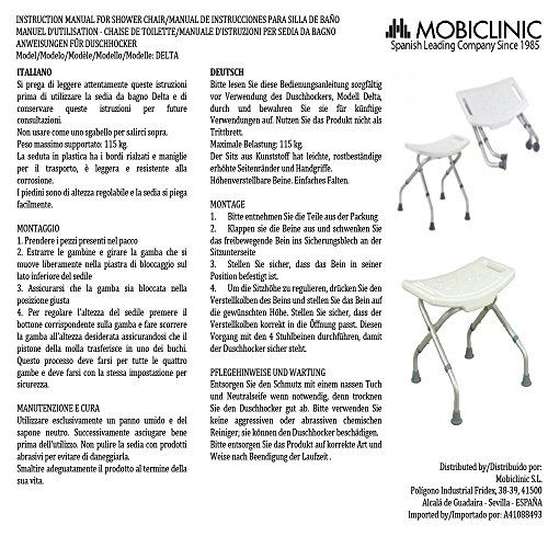 photo Wallpaper of Mobiclinic-Silla De Ducha/baño | Acero Inoxidable | Taburete Plegable Y-