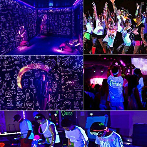 photo Wallpaper of Missyee-Black Light 36 Leds UV Licht Mit IR,Missyee Sound Aktiviert Und DMX Par Wall-Black Light(4 Packs)