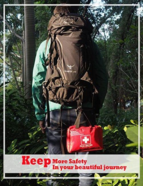 photo Wallpaper of EnergeticSky-Botiquín De Primeros Auxilios De 130 Artículos Kit Supervivencia Para El Coche, Hogar, Camping,-Rojo