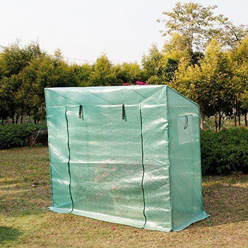 photo Wallpaper of Yorbay-Yorbay Foliengewächshaus Gewächshaus 200x80x170/150cm, Mit Gitternetzfolie Aus PE(140g/㎡), Mit Fernster, Für Garten Zur-