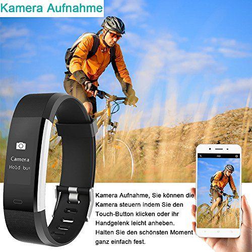 photo Wallpaper of YAMAY-YAMAY Fitness Armband Uhr Mit Pulsmesser,Wasserdicht IP67 Fitness Tracker Aktivitätstracker Pulsuhren Bluetooth-Schwarz