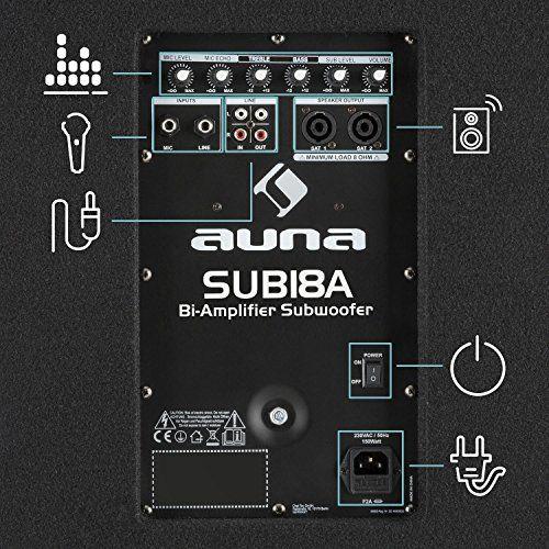 photo Wallpaper of auna-Auna Sub 18A • Aktiver PA Subwoofer • 1000 Watt Ausgangsleistung •-schwarz - 1000 W