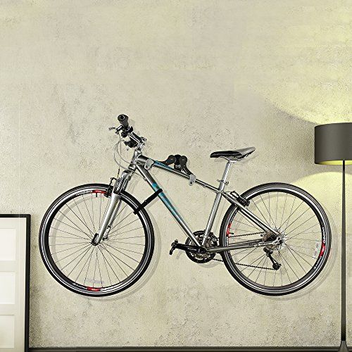 photo Wallpaper of Ibera-Ibera Fahrrad Wandhalter, Fahrradaufbewahrung, Horizontal Wall 45 ° Winkel Einstellbar, Single Aufbewahrung,-schwarz