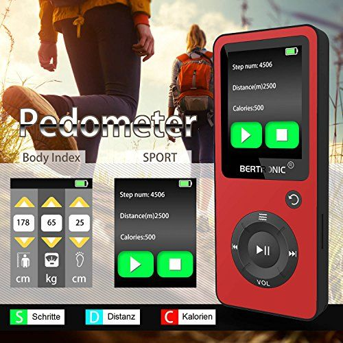 photo Wallpaper of BERTRONIC-BERTRONIC Made In Germany BC02 Royal MP3 Player ★ Bis 100 Stunden Wiedergabe-Rot