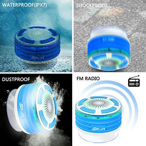 photo Wallpaper of Smilin-Duschradio Smilin Portable Mini Bluetooth 4.0 Speaker Lautsprecher Tragbarer IPX7 Wasserdicht Wireless Funk Lautsprecher-Stil 2