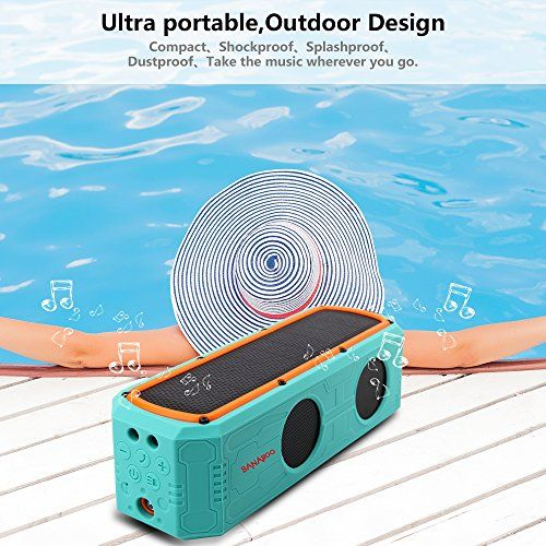 photo Wallpaper of Banaroo-Solar Bluetooth Lautsprecher, BANAROO 55 Stunden Spielzeit Tragbar Lautsprecher Dual-Green