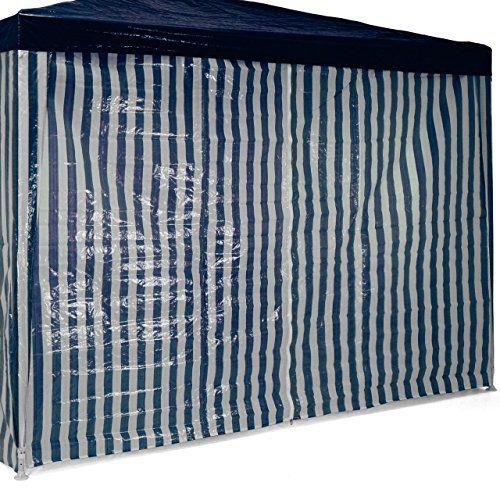 photo Wallpaper of Nexos-Pavillon Partyzelt 3x3m Blau Weiß Wasserdicht + 4 Seitenteile Gartenzelt Eventzelt-blau