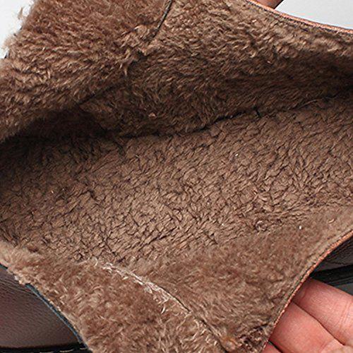 photo Wallpaper of Spritech-Spritech (TM) Herren Winter Warm British Komfort Rutschfester Wolle Arbeit Schuh-schwarz