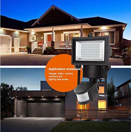 photo Wallpaper of MEIKEE-MEIKEE 60 LED Solarleuchte Garten , Wetterfeste Solarbetriebene LED Lampe Mit Bewegungssensor Wandleuchte Solarlampe-