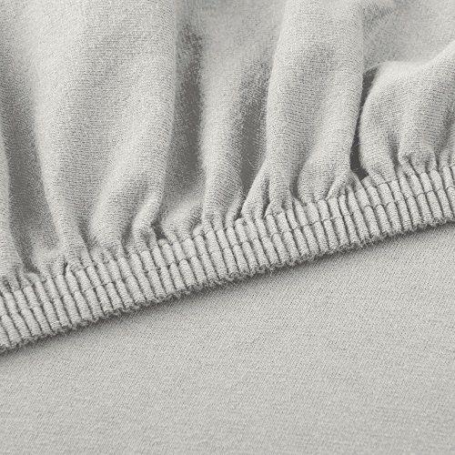photo Wallpaper of CelinaTex-CelinaTex Topper Spannbettlaken Jersey Baumwolle 90x200 100x200 Cm Spannbetttuch Für Boxspringbetten Topper 0004554 Lucina-Silber-grau