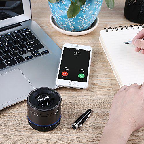 photo Wallpaper of EasyAcc-EasyAcc® Mini Portable Aufladbarer Bluetooth Lautsprecher, Wireless Bluetooth Boxen Lautsprecher-Titanium Schwarz