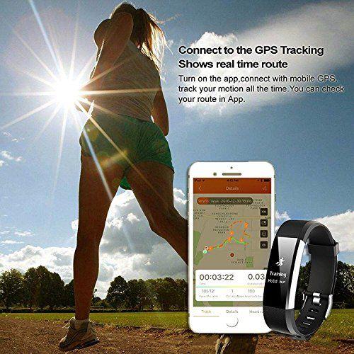 photo Wallpaper of showyoo-Pulsera Actividad, Showyoo Pulsera Inteligentes Con GPS Pulsómetro, Reloj Inteligente-negro + Brazalete Deportivo Running