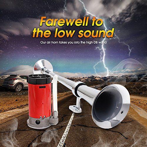 photo Wallpaper of Audew-Audew Lufthorn Drucklufthorn Luftdruck Fanfare Auto Horn Mit Kompressor 150DB 12V Hupe Für-B