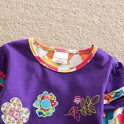 photo Wallpaper of VIKITA-VIKITA Mädchen Langarm Baumwolle T Shirt Top 1 6 Jahre L220Lila-L220lila